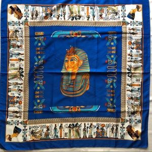 Blue Ancient Egyptian Vintage scarf